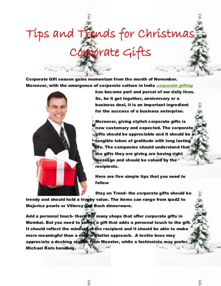 Tips and Trends for Christmas Corporate Gifts