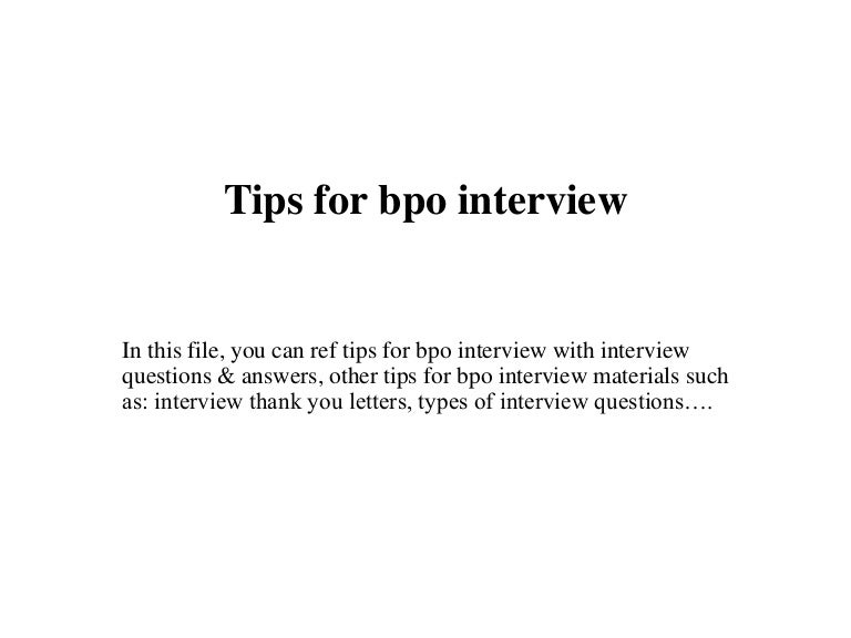 tips for bpo interview - Bpo Interview Questions And Answers