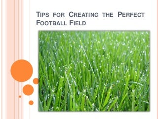 Tips for Creating the Perfect Football Field