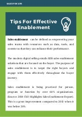 Tips For Effective Enablement