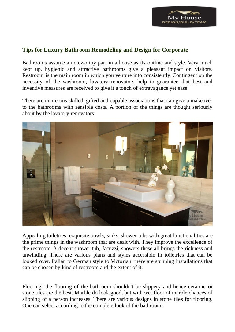 Tips For Luxury Bathroom Remodeling And Design For Corporate - Best bathroom remodel app