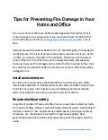 Tips for Preventing Fire Damage in Your Home and Office