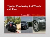 Tips for Purchasing 4x4 Wheels and Tires