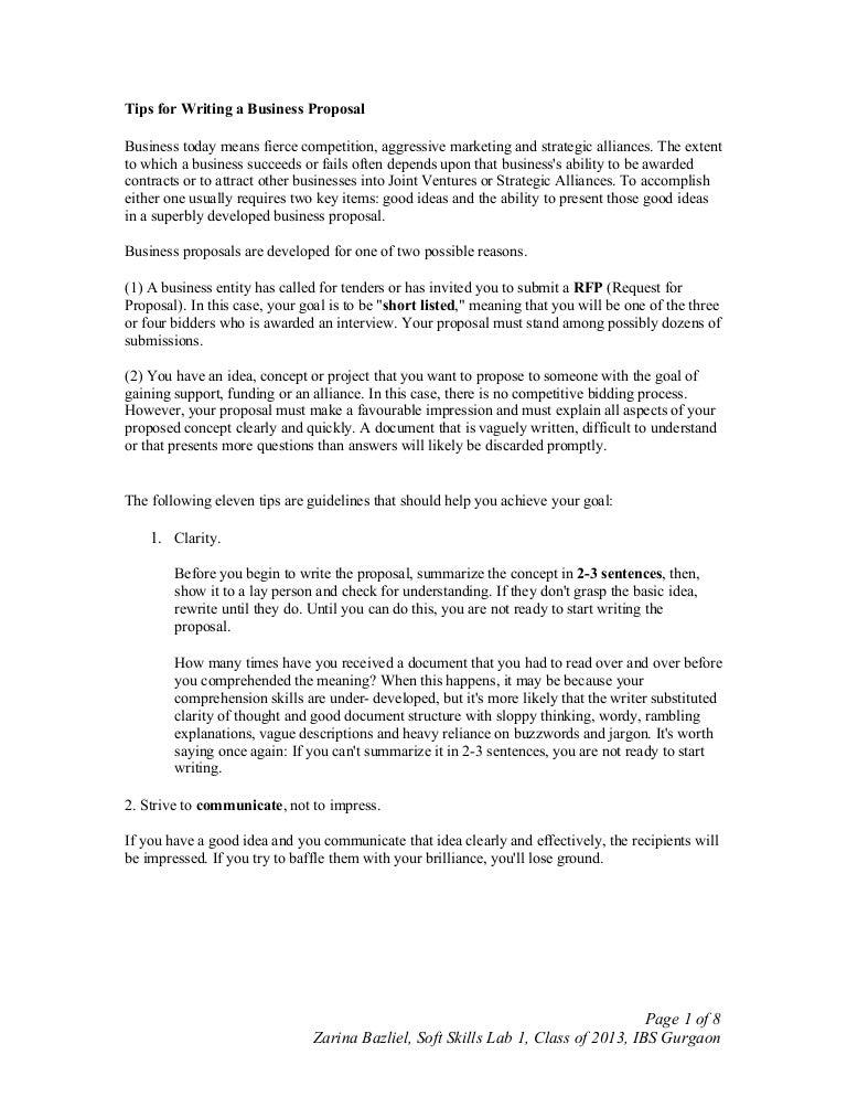 Tipsforwritingabusinessproposal