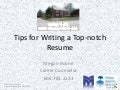 Tips for writing a top notch resume