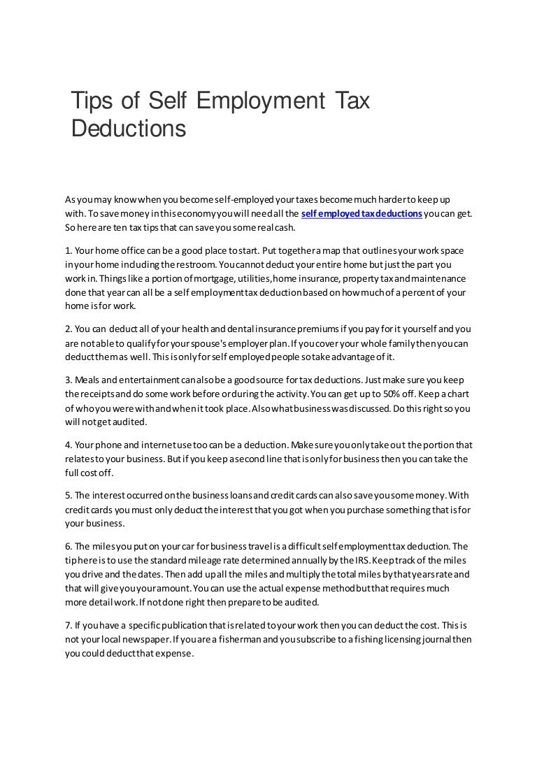 Tips of self employment tax deductions tipsofselfemploymenttaxdeductions 161205110919 thumbnail 4gcb1480936270 reheart Choice Image