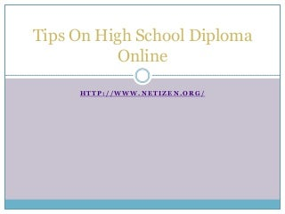 Enlisting with real online high school deploma?