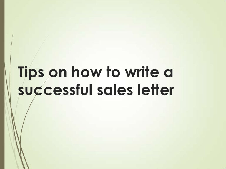 Successful Sales Letter Tips. Sample Cleaning Sales Letter Sample ...