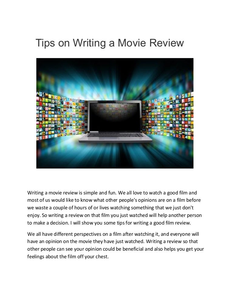 review movie writing help Disclaimer: writecustomcom is a custom writing service that provides online on-demand writing work for assistance purposes all the work should be used in accordance with the appropriate policies and applicable laws.