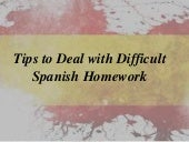 Tips to Deal with Difficult Spanish Homework