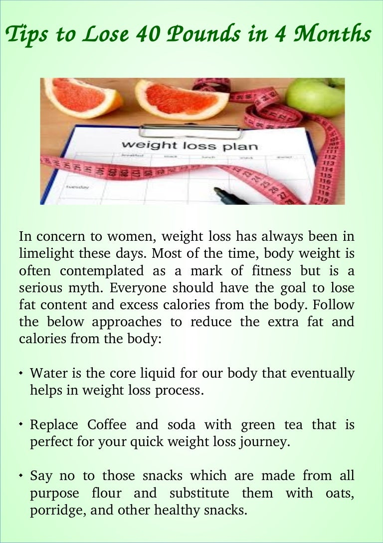 Tips to lose 6 pounds in 6 months
