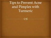 Tips to prevent acne and pimples with turmeric