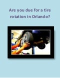 Tire rotation car maintenance in Orlando