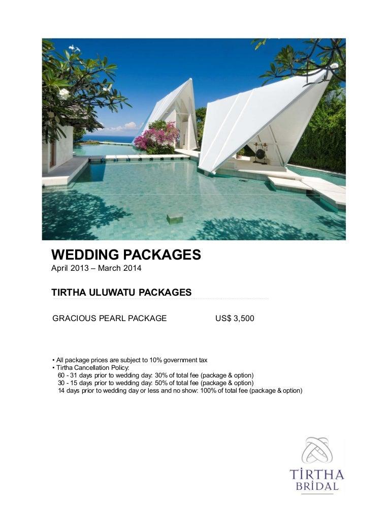 Tirtha Uluwatu Wedding Package Bali Holidays Wedding