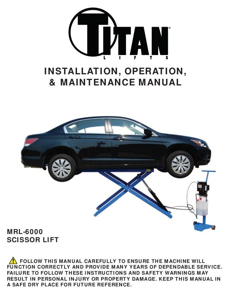 Titan scissor-lift-mrl-6000-manual