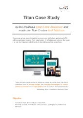 Case Study: How Titan received a swank make-over from Kuliza