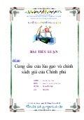 Tiểu luận kinh tế vi mô Cung cầu lúa gạo_Nhận làm luận văn Miss Mai 0988.377.480