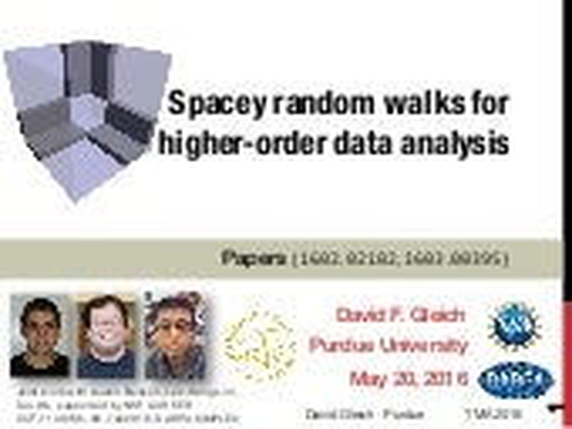 Spacey random walks and higher-order data analysis