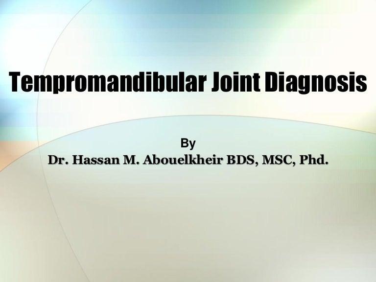Tmj Diagnosis