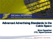 Advanced Advertising Standards in the Cable Space