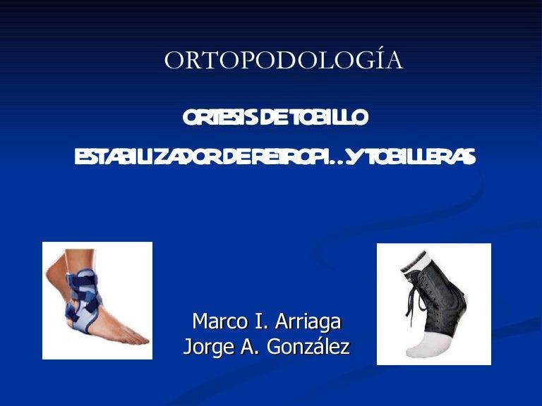 Tobillo de y bilateral ortesis pie