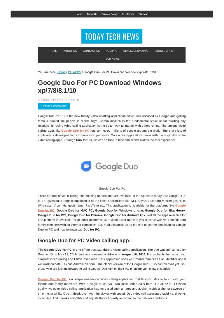 google duo download for windows 8