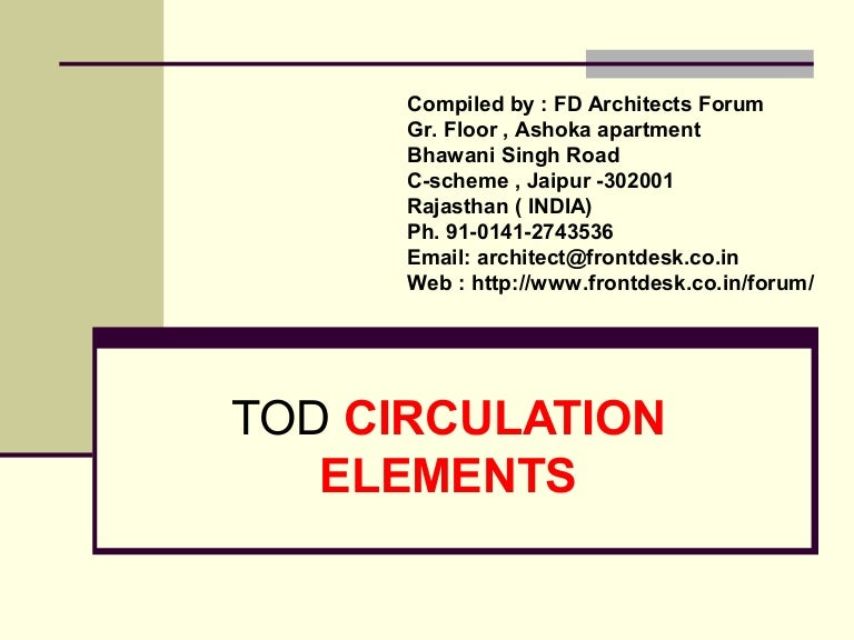 Tod Circulation Element
