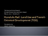 Honolulu Rail: Land Use and Transit-Oriented Development (TOD)