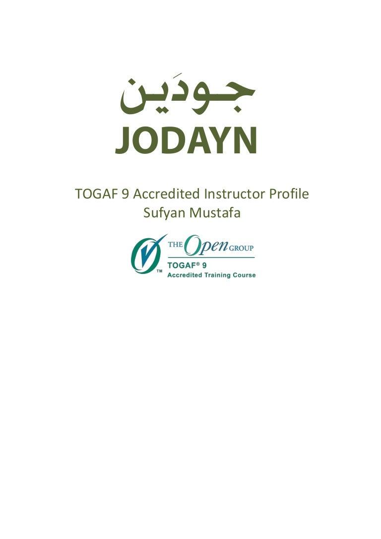 Togaf 9 and ea insturctor profile xflitez Choice Image