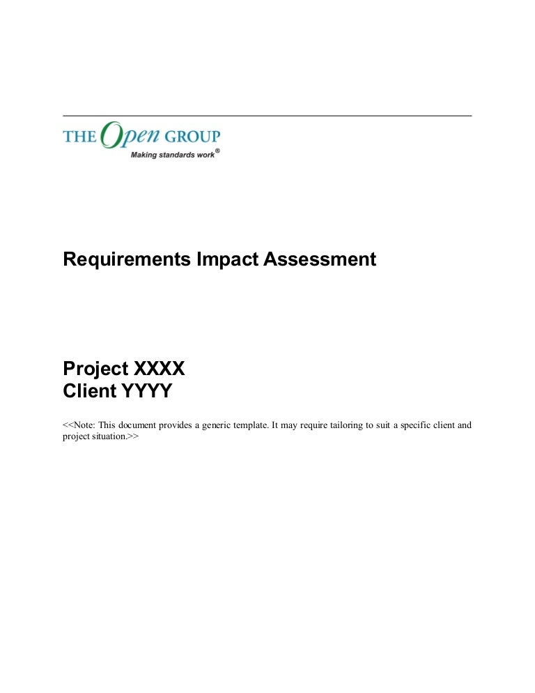 Togaf 9 Template Requirements Impact Assessment