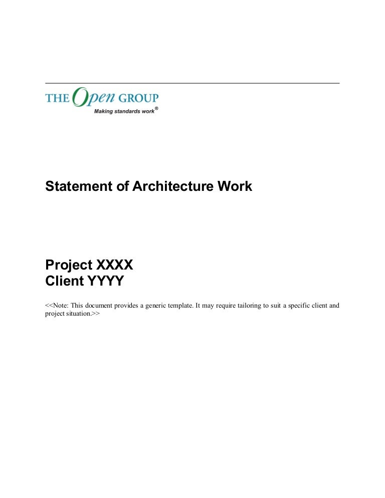 Togaf  Template Statement Of Architecture Work