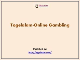 Togelalam online gambling