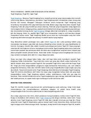 Togel hongkong belajar dari kesalahan untuk menang