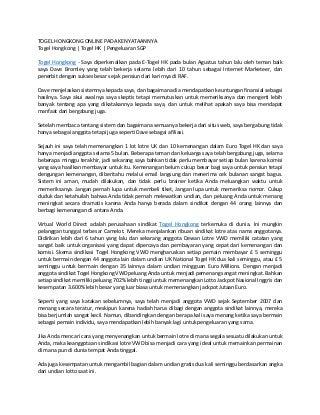 Togel hongkong online pada kenyataannya