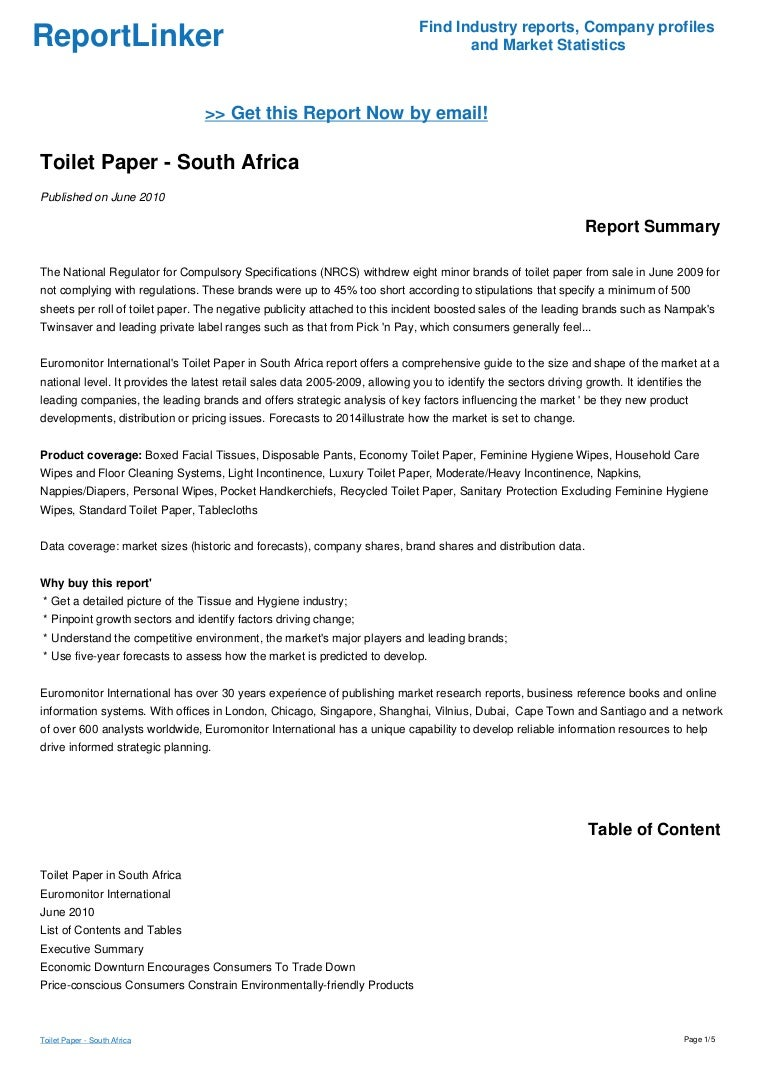 directory disposable email industry paper report research tissue