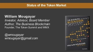 State of Tokens by William Mougayar - April 2018