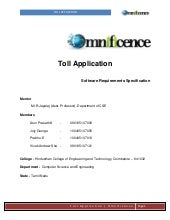 Toll application - .NET and Android - SRS