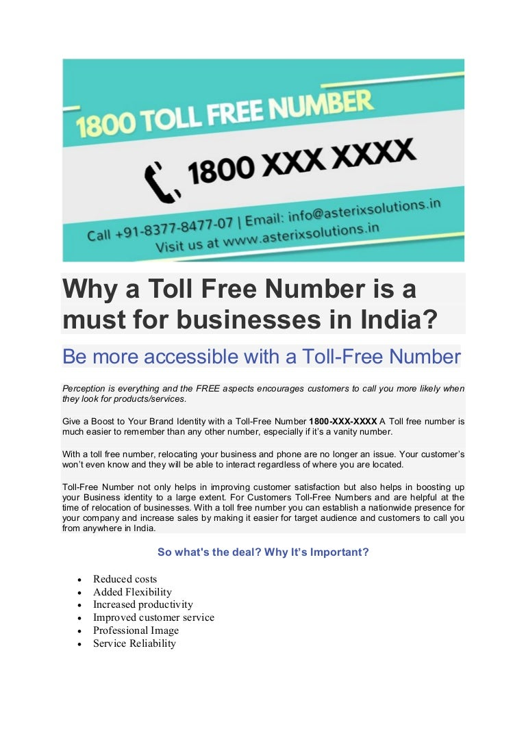 Why a Toll Free Number is a must for businesses in India?