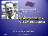 Positive Turn in Autism Research