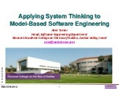 Applying system thinking to model-based software engineering
