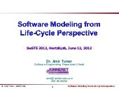 Software Modeling from Life Cycle Perspective