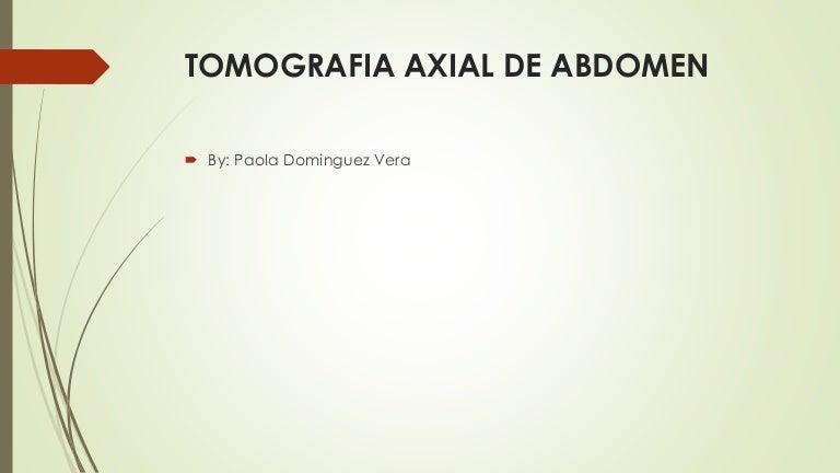 Tomografia axial de Abdomen