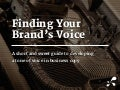 Finding Your Brand's Voice | Distilled |