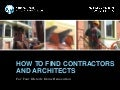 [Preservation Tips & Tools] How to Find Contractors and Architects for Your Historic Home Renovation
