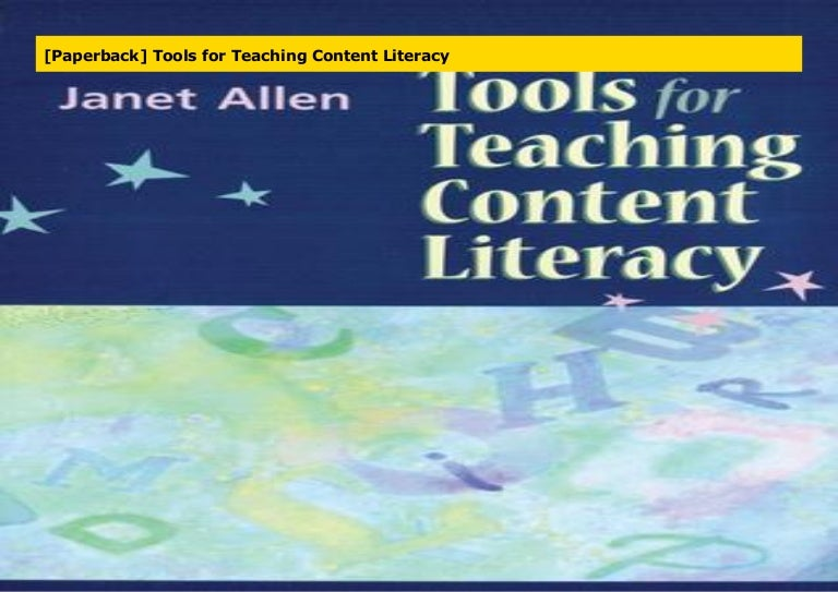 Paperback Tools For Teaching Content Literacy