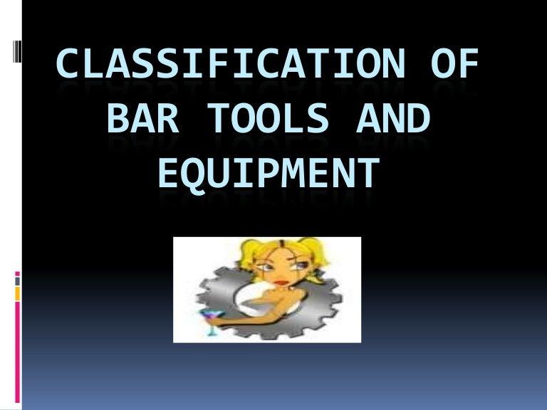 Tools make you a good bartender