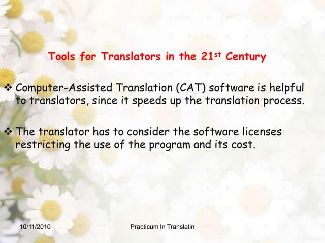 Tools of translation