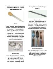 Kitchen Tools And Equipment With Meaning tools used in food preparation