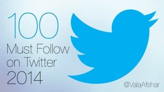 100 Must Follow on Twitter - 2014