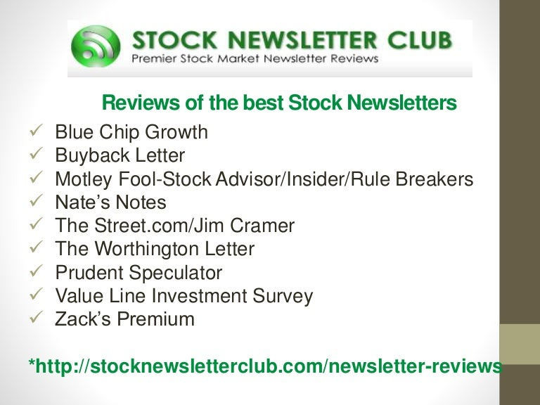 Reviews of the Top Stock Investment Newsletters